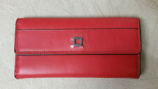 Lodis Artemis Checkbook Clutch Wallet Red Leather RFID Protection NEW FREE SHIP