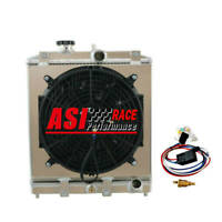2ROW Radiator+Shroud Fan+Relay FOR 1992-00 CIVIC EJ/EK/DEL SOL EG/INTEGRA DB DC