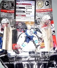 "DUSTIN BYFUGLIEN Winnipeg Jets 2.5"" Silver Series 1 NHL Imports Dragon Toy LOOSE"