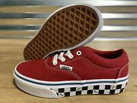Vans Doheny Youth Skate Shoes Check Sidewall Red Kids SZ 13 ( VN0A3MWA0SB )