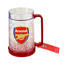 ARSENAL FC FREEZER MUG TANKARD ICE COLD BEER DRINKING GLASS NEW XMAS GIFT