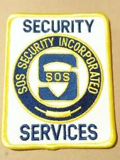 SOS SECURITY INCORPORATED SERVICES PATCH VINTAGE VAULT NEW!