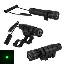Green dot Laser sight rifle gun scope w/ Rail & Barrel Mount Cap Pressure Switch