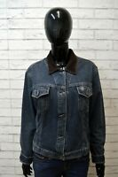 Giacca Giubbotto in Jeans Blu TIMBERLAND Taglia Size L Cappotto Jacket Woman