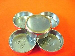 """Fits GM 5pk 1-1/2"""" Freeze Expansion Plugs Zinc Plated Steel Engine Cylinder NOS"""
