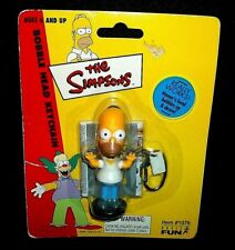 The Simpsons HOMER SIMPSON Action Figure Bobble Head Nodder Keychain Ring