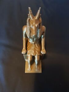 Anubis Statue God Egyptian Sphinx Ornament Figurine in Golden 15cm