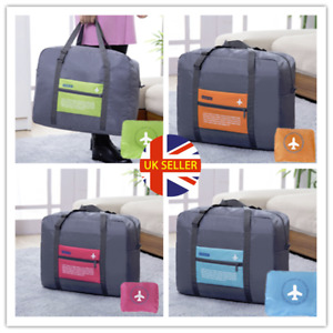 UK Folding Shoulder Shopping Handbag Luggage Reusable  Beach Storage Travel Bag