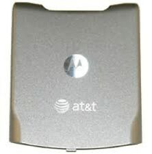 New Oem Motorola Battery Door V3xx Razr Battery Door with At&T Logo- Stone Gray