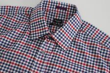 """NEW PAUL SMITH Mens Shirt / Size 16,5"""" (CHEST 46"""") RRP £95+ BLUE RED WHITE CHECK"""