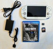 Limited Edition White Sony Playstation PS Vita OLED w/ games pch-1001 1000