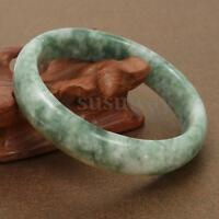 59mm Chinese Beautiful Genuine Natural Green Jade  Jadeite Gem Bangle Bracelet