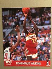 DOMINIQUE WILKINS PHOTO -  NBA HOOPS 1990