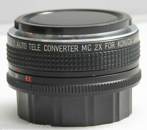 Promaster Spectrum 7 MC 2x Tele-Converter For Konica - Glass Good - USED D35A