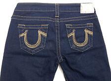 EUC - LOOK NEW - RRP $389 - Womens Stunning True Religion 'JOHNNY' Indigo Jeans