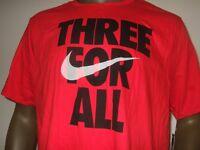Men's XL Red Nike Three For All Athletic Cut Dri-fit Sport Tee Shirt AV4171