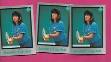 3 X  RARE JENNIFER CAPRIATI  TENNIS PLAYER MINT CARD (INV# C3261)