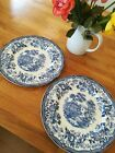 Vintage Royal Staffordshire Tonquin Blue & White By Clarise Cliff 10 Dinner Plat