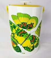 Vintage Georges Briard Ice Bucket Butterflies Retro 70s Mid Century MCM Summer