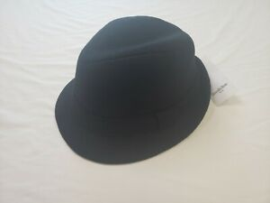 Goodfellow Mens Solid Black Fedora Hat Size M/L Wool Blend Warm Stylish