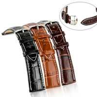 Genuine Leather Strap Steel Buckle Men Sport Wrist Watch Band Belt 18/20/22/24mm