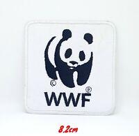 WWF Panda Logo Iron Sew on Embroidered Patch #332