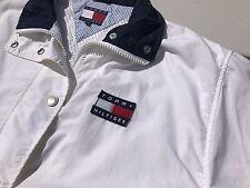 Vintage 90's Tommy Hilfiger NYC Sailing Gear USA FLAG Jacket Coat White L  EX+