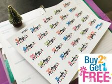 PP392 -- Christmas Countdown Life Planner Stickers for Erin Condren (30pcs)