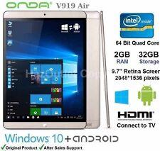 """Onda V919 Air 9.7"""" Tablet PC Windows & Android OS Quad Core Intel 2GB RAM 32GB"""
