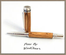 Handmade Rare Bethlehem Olive Wood Rollerball Or Fountain Pen Beautiful 754