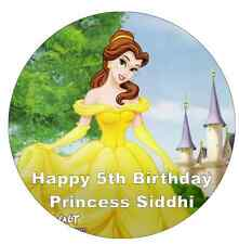 """Beauty And The Beast Belle Personalised Cake Topper Edible Wafer Paper 7.5"""""""