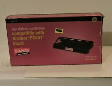 Fax Ribbon Cartridge For Brother PC401 Black New