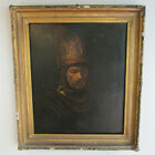 Early 19th Century Oil On Canvas Rendition Of Rembrandt's Helmeted Man Painting