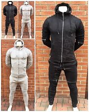 ✅Mens Full Tracksuit Set Slim Fit Joggers Pants Bottoms & ✅Quad Zip Rib Top NEW✅