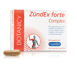 Entzündung MSM Kapseln Komplex ZÜNDEX forte bei Arthritis, Rheuma uvm.