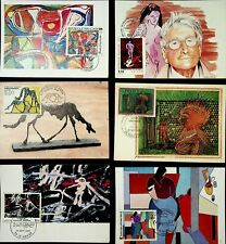 FRANCE 1974-88 11 MAXIM CARDS MOSTLY ON ARTS / PAINTINGS