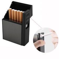 2 in1 USB Charging Cigarette Case With Inbuilt Windproof Lighter Box Holder
