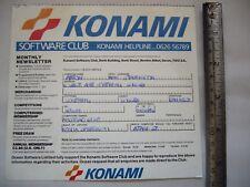 VINTAGE 1980s AMSTRAD 6128 464 ATARI KONAMI SOFTWARE CLUB OCEAN COMPUTER FLYER