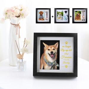 Dog Photo Frame Pet Cat Dog Keepsake Collar Frame Picture Memorial Wood Frame