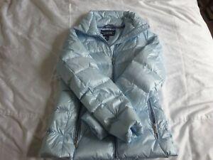 Lands End pale blue quilted jacket
