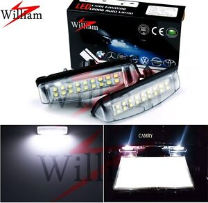 2x LED License Plate Lights White For Lexus RX300/RX330/RX350/RX400h 2003-2008