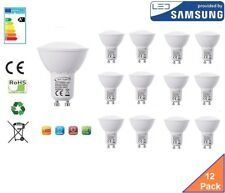 GU10 LED Bulb Cool White, 6W, 480 lumens, 6000K, 120° Beam Angle - Pack of 12
