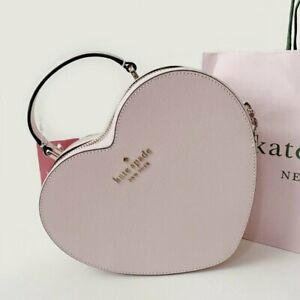 """New"" Kate Spade Heart Crossbody Love Shack Pink Leather Bag Free Shipping"