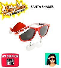 Sun-Stache Sun Statche Mustache Christmas HO HO Santa Claus Sunglasses Holiday