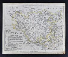 1847 Flemming Map - Holstein Lauenburg Hamburg Lubeck Oldenburg Kiel Elbe River