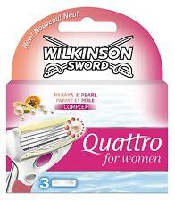 Wilkinson Sword Quattro pour femmes lames - Pack de 3