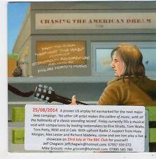 (FF964) Finlay Morton, Chasing The American Dream - 2014 DJ CD