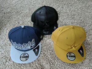 3 - New Era Dallas Cowboys NFL Snapback Hats 9fifty New