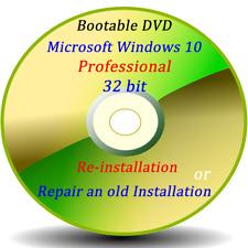 Microsoft Windows 10 Pro 32 bits