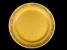 """Vintage Bauer Pottery Los Angeles Yellow Round Chop Plate Painted Rings 13"""""""